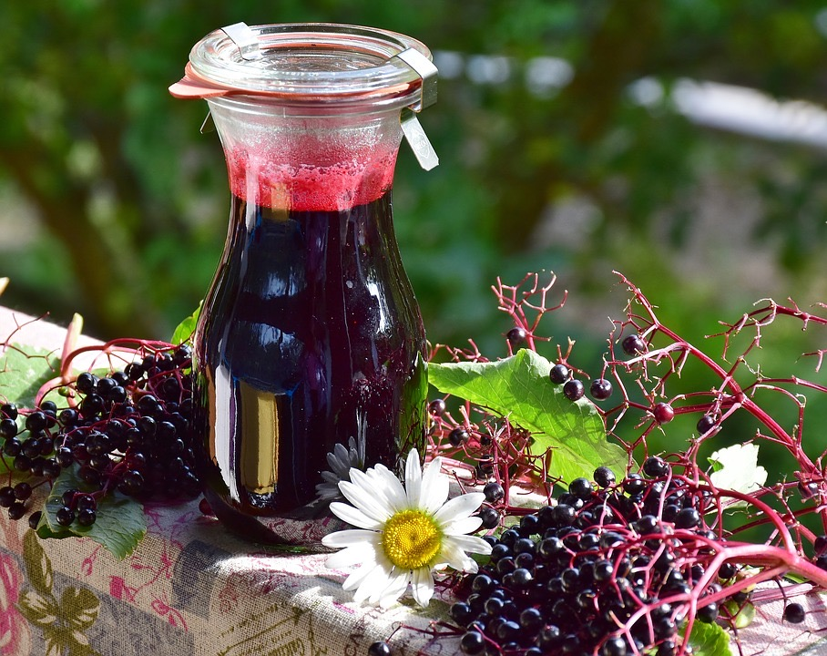 Elderberries and elderberry syrup for colds and flu