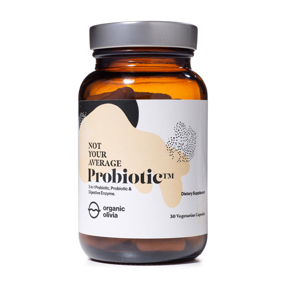 Organic olivias probiotic heal and unhealthy gut